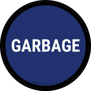 5S Garbage Blue Circular - Floor Sign