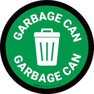 5S Garbage Can Circular - Floor Sign