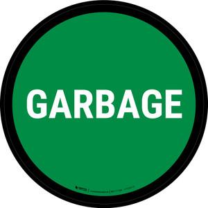 5S Garbage Green Circular - Floor Sign