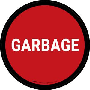 5S Garbage Red Circular - Floor Sign