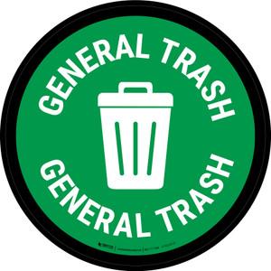 5S General Trash Circular - Floor Sign