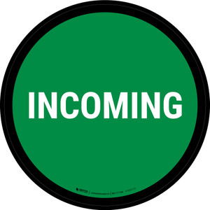 5S Incoming Green Circular - Floor Sign
