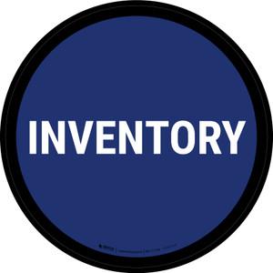 5S Inventory Blue Circular - Floor Sign
