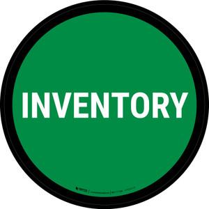 5S Inventory Green Circular - Floor Sign
