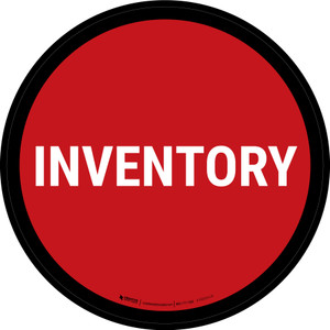 5S Inventory Red Circular - Floor Sign