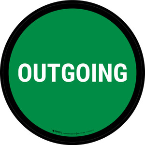 5S Outgoing Green Circular - Floor Sign