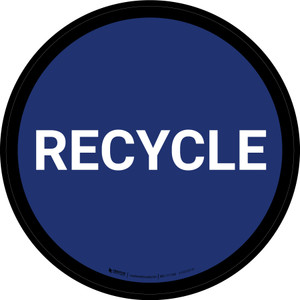 5S Recycle Blue Circular - Floor Sign