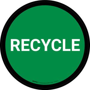 5S Recycle Green Circular - Floor Sign
