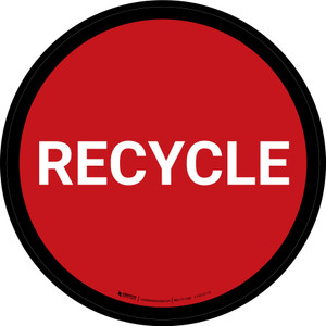 5S Recycle Red Circular - Floor Sign