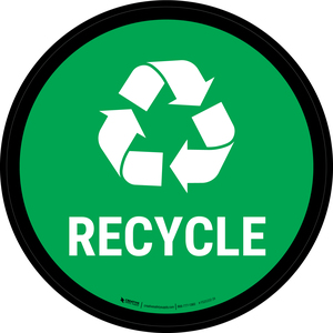 5S Recycle Symbol Circular - Floor Sign