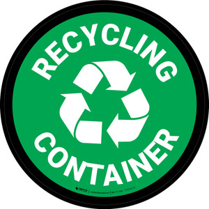 5S Recycling Container Circular - Floor Sign