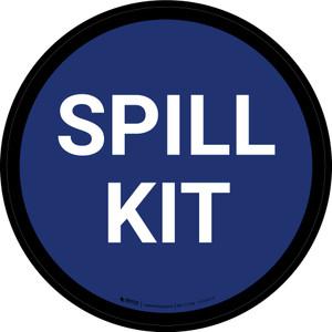 5S Spill Kit Blue Circular - Floor Sign