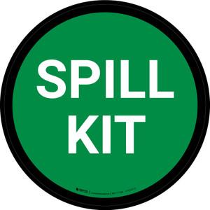 5S Spill Kit Green Circular - Floor Sign