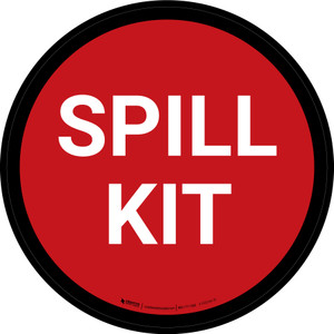 5S Spill Kit Red Circular - Floor Sign