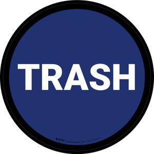 5S Trash Blue Circular - Floor Sign