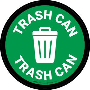 5S Trash Can Circular - Floor Sign