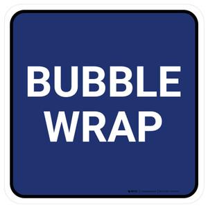 5S Bubble Wrap Blue Square - Floor Sign
