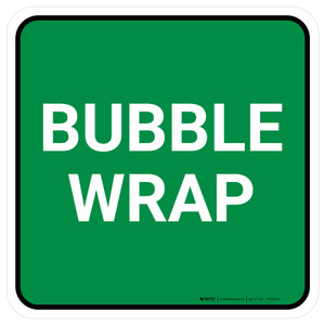 5S Bubble Wrap Green Square - Floor Sign