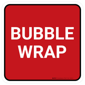 5S Bubble Wrap Red Square - Floor Sign