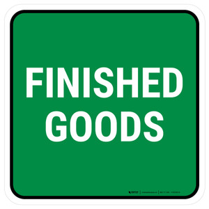 5S Finished Goods Green Square - Floor Sign