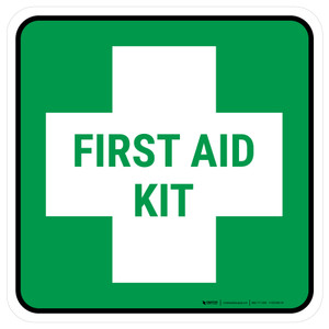 5S First Aid Kit Square - Floor Sign