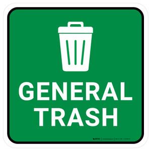 5S General Trash Square - Floor Sign