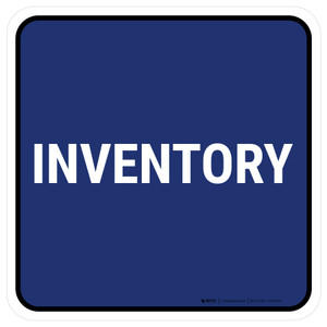 5S Inventory Blue Square - Floor Sign