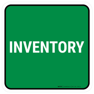 5S Inventory Green Square - Floor Sign