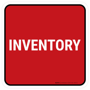 5S Inventory Red Square - Floor Sign