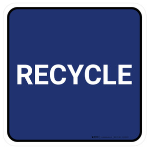 5S Recycle Blue Square - Floor Sign