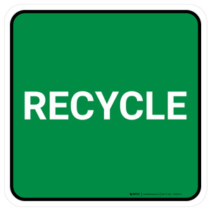 5S Recycle Green Square - Floor Sign