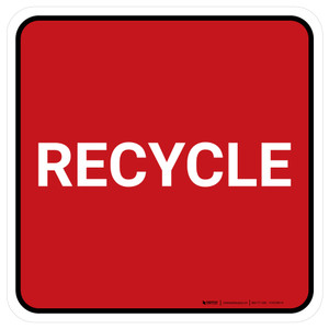 5S Recycle Red Square - Floor Sign
