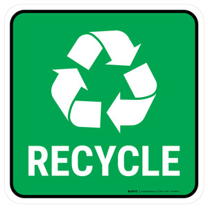 5S Recycle Symbol Square - Floor Sign