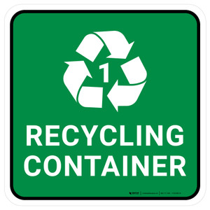 5S Recycling Container 1 Square - Floor Sign