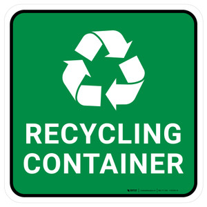 5S Recycling Container Square - Floor Sign