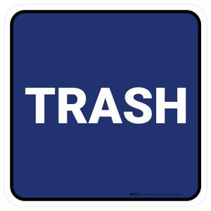 5S Trash Blue Square - Floor Sign
