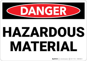 Danger: Hazardous Materials - Wall Sign