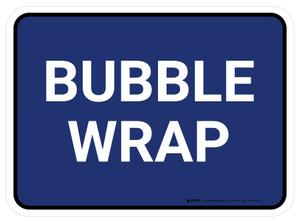 5S Bubble Wrap Blue Rectangle - Floor Sign
