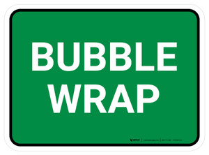 5S Bubble Wrap Green Rectangle - Floor Sign