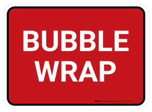 5S Bubble Wrap Red Rectangle - Floor Sign