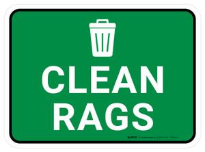 5S Clean Rags Rectangle - Floor Sign