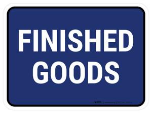 5S Finished Goods Blue Rectangle - Floor Sign