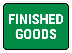5S Finished Goods Green Rectangle - Floor Sign