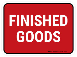 5S Finished Goods Red Rectangle - Floor Sign
