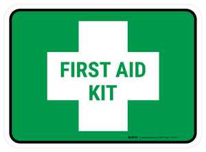 5S First Aid Kit Rectangle - Floor Sign