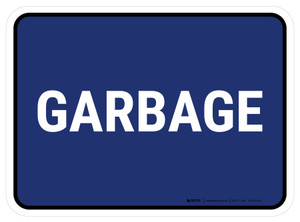 5S Garbage Blue Rectangle - Floor Sign