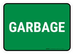 5S Garbage Green Rectangle - Floor Sign