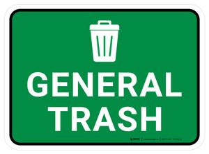 5S General Trash Rectangle - Floor Sign