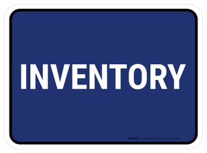 5S Inventory Blue Rectangle - Floor Sign