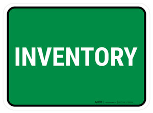 5S Inventory Green Rectangle - Floor Sign
